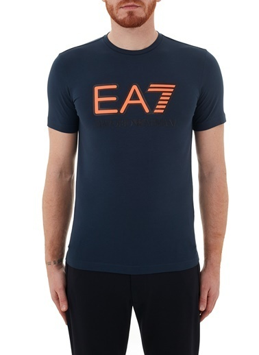 Emporio Armani  Baskılı Bisiklet Yaka Pamuklu T Shirt Erkek T Shırt S 6Hpt62 Pj03Z 1554 Lacivert